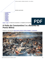 A Visão de Constantino I e a Batalha Na Ponte Mílvia - Caos No Sistema