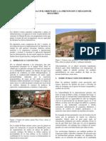 Valdivia. F. Diseno en Prevencion y Mitigacion Desastres Journal CIP CDP