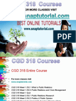 CGD 318 Apprentice tutors / snaptutorial