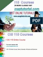 CIS 115 Apprentice tutors / snaptutorial