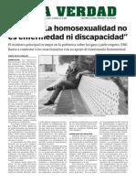 160109 La Verdad- Picardo- 'La Homosexualidad No Es Enfermedad Ni Discapacidad'