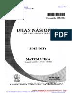 Soal Dan Pembahasan Un Matematika Smp 2014 Paket 2