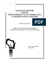 GUIDANCE FOR THE USE OF GEOSYNTHETIC CLAY LINERS (GCLs) AT SOLID WASTE FACILITIES