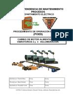 POE Cambio Motor Alimentadores Vibratorios 2 y 3