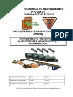 POE Mantenimiento Motor Alimentadores Vibratorios 2 y 3