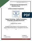 Internship  Report - Digital Marketing