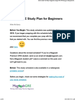 90 Day GRE Study Plan for Beginners