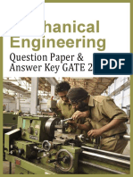 GATE 2013 Question Paper – Mechanical Engineering & Answer Key