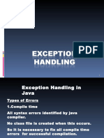 Chapter8 Exception Handling