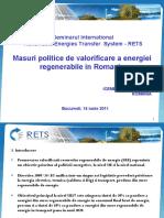 2011 06 14 Semin Policy Measures Exploit Renewable Energy Romania Maria Rugina RO
