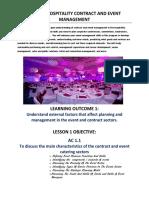 unit 14 ttm lesson notes ac 1 1  event planning and management