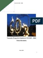 Venezuela. Prospectiva Emision CO2 (2015 - 2040)