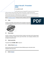 Procedure Product Recall  Prosedur Penarikan Produk.docx