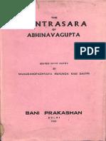 Tantra Sara of Abhinavagupta - Bani Prakashan
