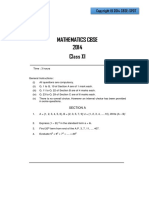 Mathematics CBSE Class 11 Sample Paper