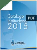 Catalogo Institucional 2015 UFG