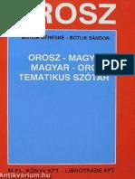 Tematikus Orosz-magyar Magyar-Orosz Szótár