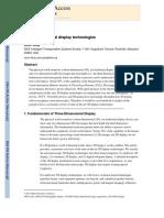 Three-dimensional display technologies