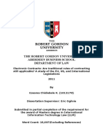 Final Dissertation on Electronic Contracts