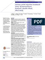 BMJ Acupuncture point injection treatment of primary dysmenorrhoea