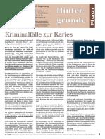 Vogelsang, Heinz Gerhard - Kriminalfälle Zur Karies