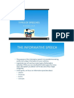 informative speech notes quiz 1