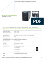 APC Smart-UPS RT 20kVA Specifications