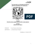 Tesina Alimentos Entre Concubinos Materia Derecho de Familia Octubre de 2014