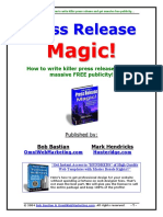 How to Write Press Release and Get Massive Free Publicity