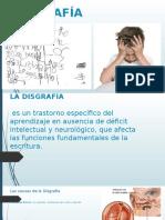 DISGRAFÍA transtornos en la educacion