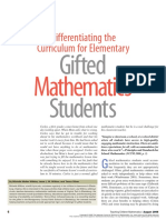 (2006) Differentiating the Curriculum for Elementary Gifted Mathematics Students