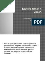 Bachelard e o Vinho