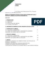 Manual de Presentación de Planos Para Anteproyecto y Proy. Ejecutivo TIJUANA