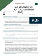Guía docente de Política Económica Pública y Española