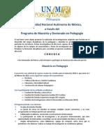 2016 2 UNAM Mastria pedagogia