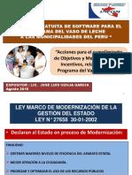 Exposicion Jose Nunja-plan de Incentivos Relacionados Al Programa Del Vaso de Leche