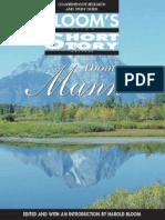 Harold Bloom-Thomas Mann Short Stories
