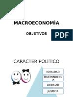 OBJETIVOS MACROECONOMÌA