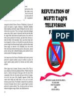 Refutation of Mufti Taqi's Television Fatwa