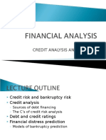 Lecture 8 - Credit Analysis & Distress Prediction