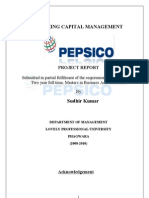 Working Capital Management of PEPSICO Sudhir Project