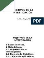 Tesis 5 Objetivos de La Investigación