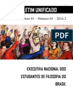 Boletim Unificado Da Executiva Nacional Dos Estudantes de Filosofia Do Brasil - Ano 01 - Número 1 - 2014.2
