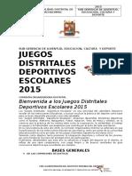 Bases de Juegos Escolares Pachacamac 2015