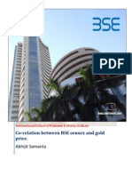 Co-relation between Sensex and Gold Price