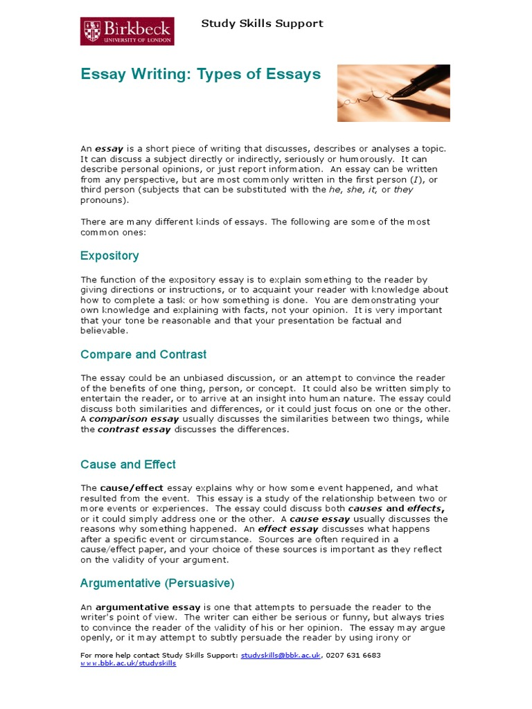 Example of a 5 paragraph essay