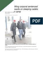 28 Nov 2011 - Sex Assault on Sleeping Cadets at Summer Camp