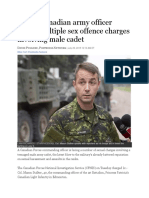 29 Jul 2015 - Senior Officer Faces Sex Offence Charges for Male Cadet