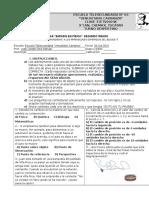 CIENCIAS 2°. EVALUACIÓN DEL PRIMER BLOQUE 2015-2016