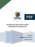 Analyzing Carsh Dumps in Solaris Using Mdb and SCAT